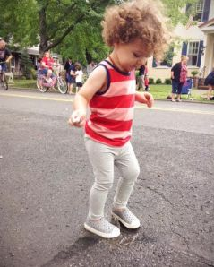 And puddle-stomping.